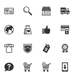 Shopping and e-commerce icons - set 2 vector