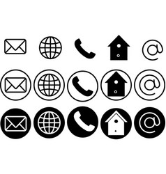 simple set icons for web vector image