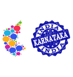 Social network map of karnataka state with talk vector
