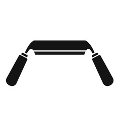 spokeshave icon simple style vector image