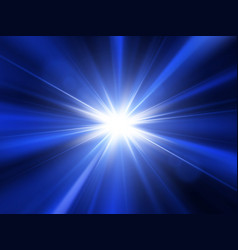 star sun with lens flare and rays vector image