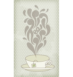 Steaming hot tea vector image