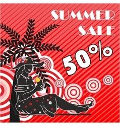 Summer sale shopping design vector image vector image