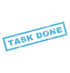 Task Done Rubber Stamp vector