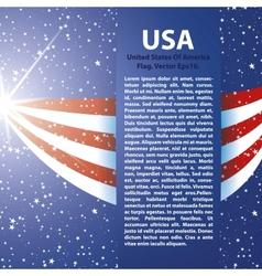 united states america flag background usa vector image