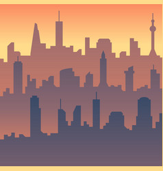 urban cityscape cartoon city skyline vector image