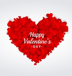 Valentines day greeting heart vector