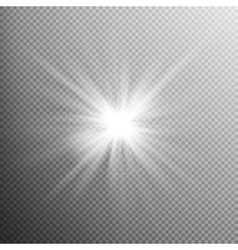 White glowing light burst effect EPS 10 vector image