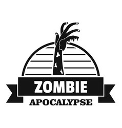 Zombie catching logo simple black style vector