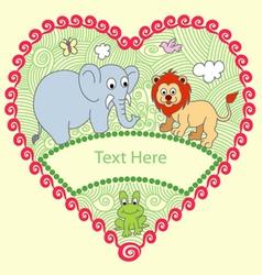 Animal decorative vector image vector image