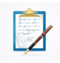 Business Blank and Pen vector image vector image