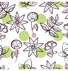 Seamless Pattern Magic Flowers vector image vector image
