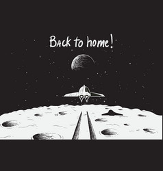 spaceship back to earth vector image