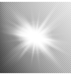 White glowing light burst effect EPS 10 vector image vector image
