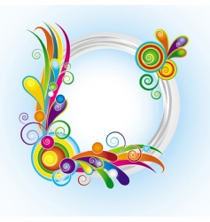 multicolor ring frame vector image vector image