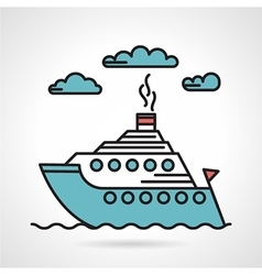 Steamer flat style icon vector image vector image