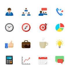 Business and Finance Icons with White Background vector image vector image