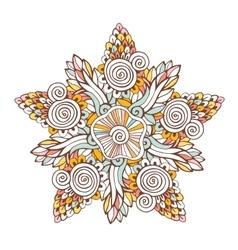 Colorful mandala Ornament for coloring vector image