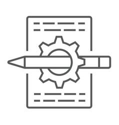 Content management thin line icon development vector