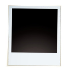 retro instant photograph vector image