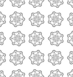 Seamless Contour Floral Pattern vector image