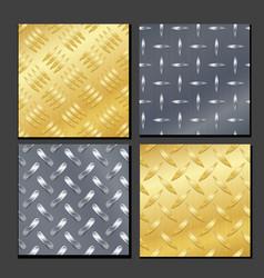 seamless diamond metal background set with tread vector image