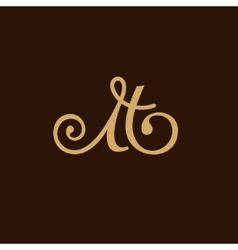 Sign the letter M and H vector image