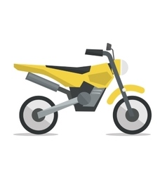 Classic retro motorcycle vector image