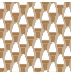 Ice cream pattern in swatches vector image