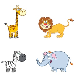 Jungle Animals Collection vector image vector image