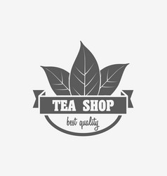 logo badge or label design concept of tea shop vector image vector image