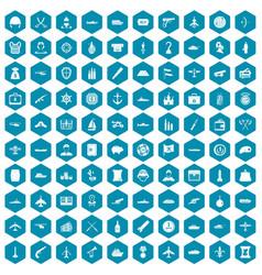 100 combat vehicles icons sapphirine violet vector