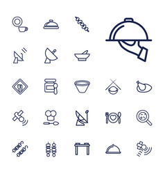 22 dish icons vector