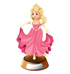 A princess with a pink gown vector image vector image