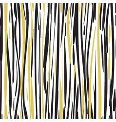 Abstract hand drawn black and gold seamless vector image