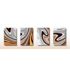 Abstract mixed gray brown and yellow swirls vector