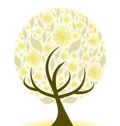 beautiful art tree vector image