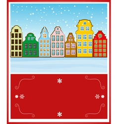 Bright and Colorful Christmas Greeting Card Design vector