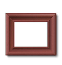 Brown wooden vintage frame isolated vector