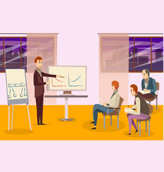 Business training composition vector