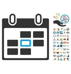 Calendar Day Icon With 2017 Year Bonus Pictograms vector