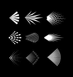 cartoon aerosol spray icons set on a black vector image