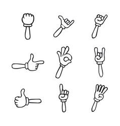 cartoon hands gloved hands vector image
