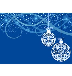Christmas ornaments balls vector