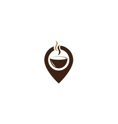 coffee point logo template vector image