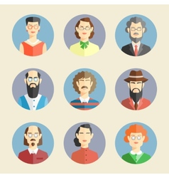 Collection of faces icons vector