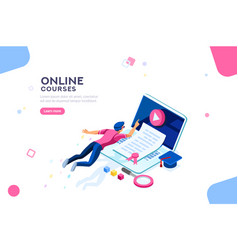 college template web page banner vector image