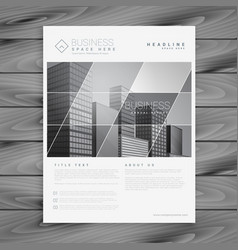 Company business brochure flyer presentation vector