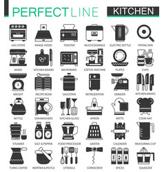 cooking and kitchen classic black mini concept vector image