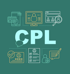 customer loyalty program word concepts banner vector image